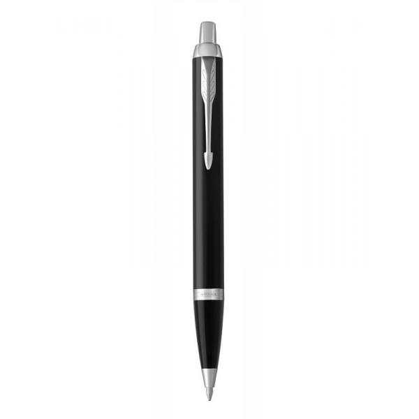 英國Parker IM系列原子筆 - 黑銀色按鈕式